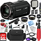 Beach Camera Panasonic HC-V770K HD Camcorder Mini Zoom Microphone + 64GB SDXC Memory Card + Gadget Bag + Corel PaintShop Pro X9 + Microfiber Cloth + Memory Card Wallet + Card Reader + Tripod & More
