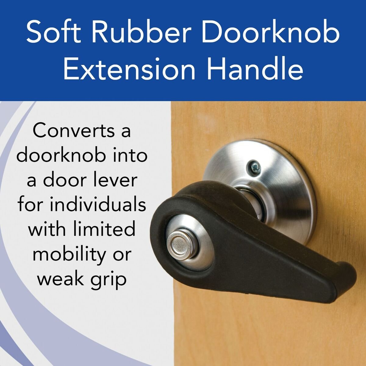 Amazon.com: Sammons Preston Soft Rubber Doorknob Extension Handle, Extender  Snaps Around Standard Door Knobs, Easy To Open Door Handle For Elderly, ...