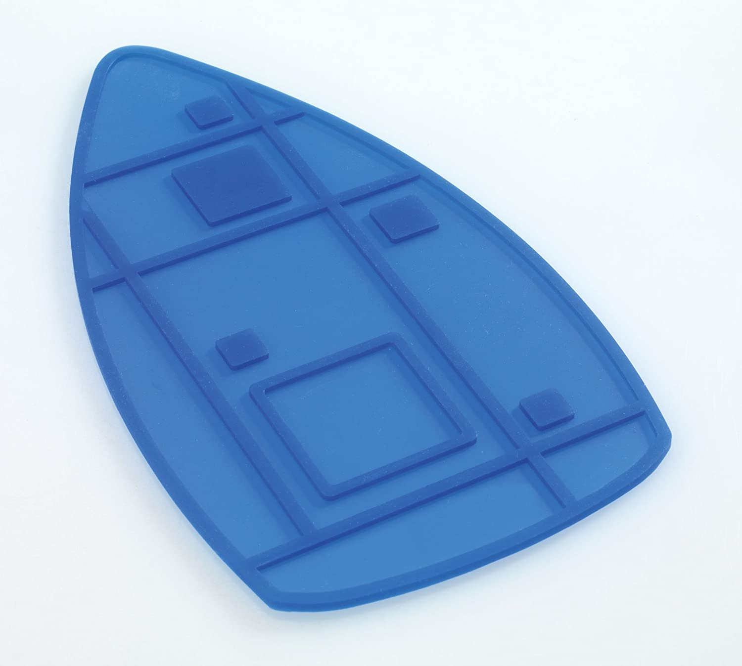 Wenko Silicon Iron Rest Heat Resistant up to 240 Degrees Centigrade 23.5 x 13 cm Blue 1940002100