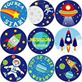 Space Sticker Roll Stickers for Valentine's Day Envelopes Sealing Sticker Kids Party Favor Classroom Gift Exchange 200Pcs