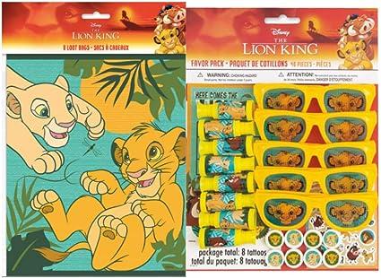 Amazon.com: Lion - Bolsas de regalo para fiesta de ...