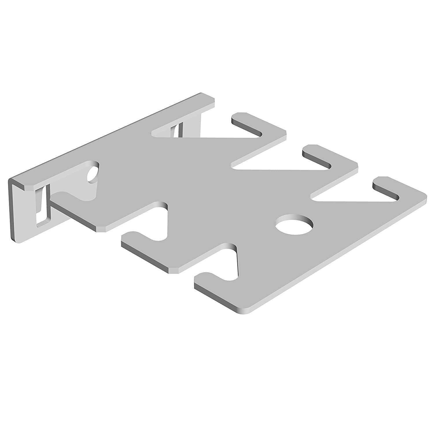 Element System 11407-00002 Tool Holder for Wrenches and Peg Board - White (6-Piece) DIY Element System