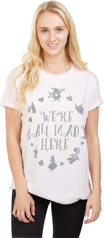 Disney Alice in Wonderland Mad Here T-Shirt Donna