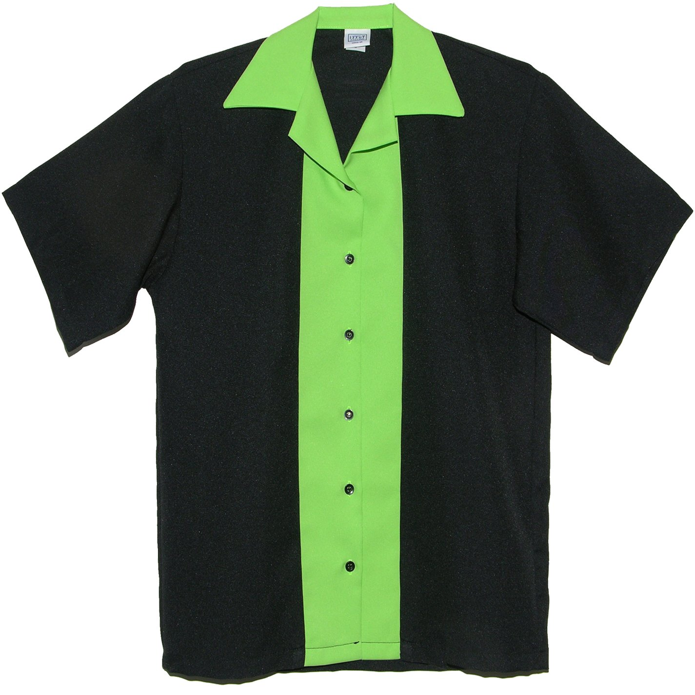 Tutti Ladies Retro Bowling Shirt 50's Style ~ Classic 57 Womens Bowling Shirts (Small) Lime Green by Tutti
