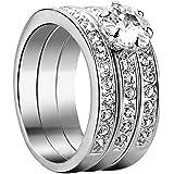 Yoursfs moda dell'oro bianco 18K amore anelli Usa cristallo austriaco Trinità sposa strass e anello di fidanzamento