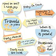 Funny Noah's Ark - Baby Shower Photo Booth Props Kit - 10 Piece