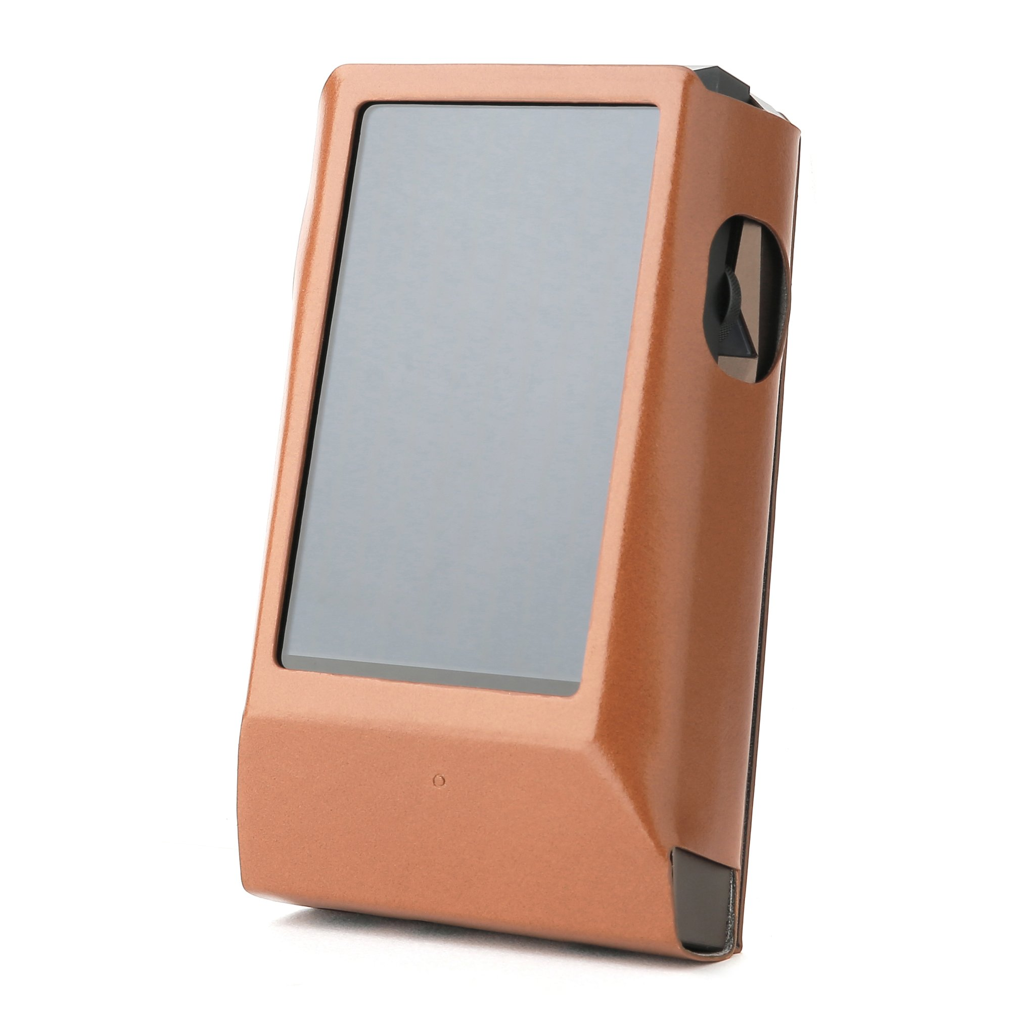 Astell&Kern AK300 AMP / AK320 AMP Hand Crafted MITER Leather Case Cover [Patented Stand Case] astell&Kern Leather case (Light Brown)