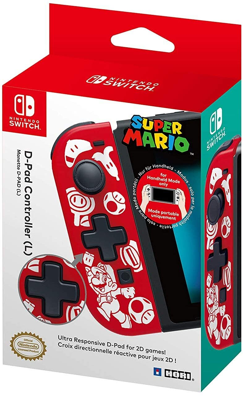 Hori Nintendo Switch D-Pad Controller (L) (Super Mario) By - Officially Licensed By Nintendo - Nintendo Switch