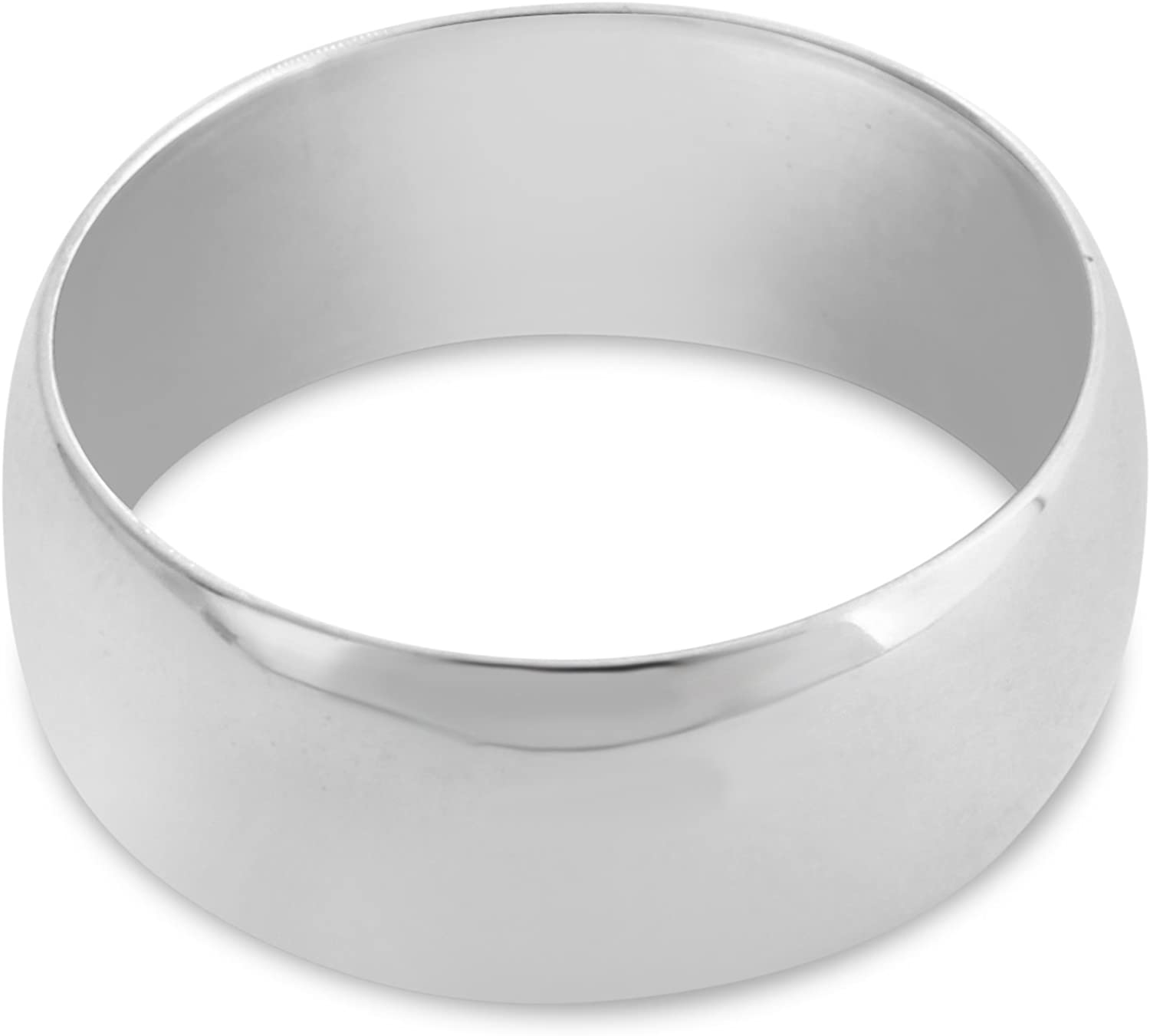 Azaggi 925 Sterling Silver Ranking TOP19 Wedding Financial sales sale Band Ring 6 8mm