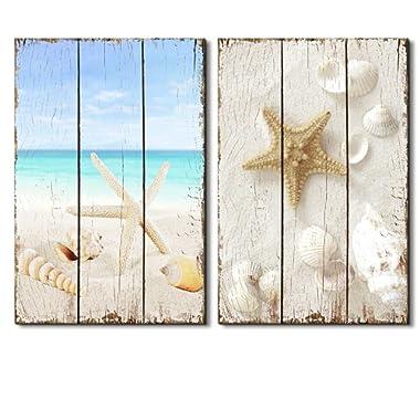 wall26 -Beach Scene with Sea Life on The Sand - Canvas Art Wall Decor - 16 x24