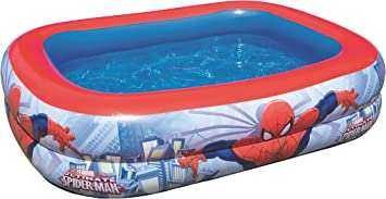 Color Baby - Piscina hinchable rectangular de Spiderman: Amazon ...