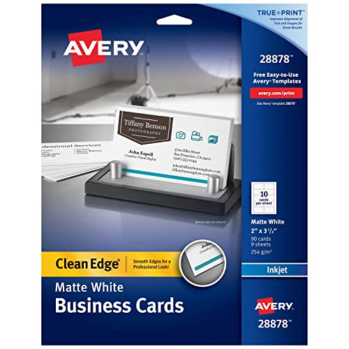 avery printable business cards inkjet printers 90 cards 2 x 35 clean