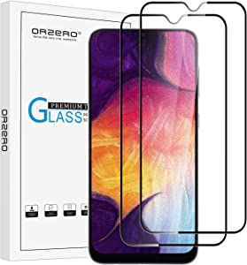 (2 Pack) Orzero Tempered Glass Screen Protector Compatible for Samsung Galaxy A20, A30, A50, M30, M30S (Full Adhesive), 2.5D Arc Edges 9 Hardness HD Anti-Scratch (Lifetime Replacement)