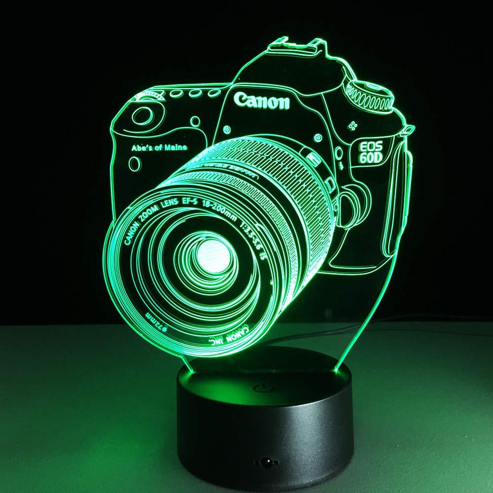 BFMBCHDJ Cámara 3D Led Luz de noche Led Acrílico Luces de colores ...