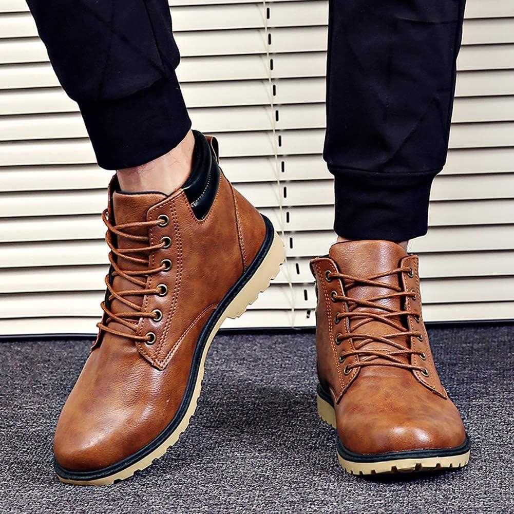 KUIBU Mens Work Boots Lace up Anti-Slip