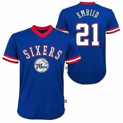 promo code bf067 1e020 Genuine Stuff Philadelphia 76ers Youth Joel Embiid NBA ...