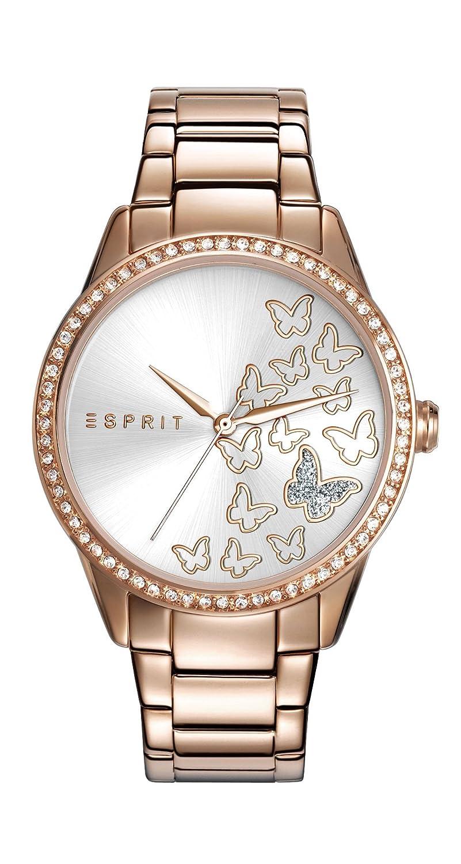 Esprit Damen-Armbanduhr TP10908 Rose Gold Analog Quarz Edelstahl ES109082002