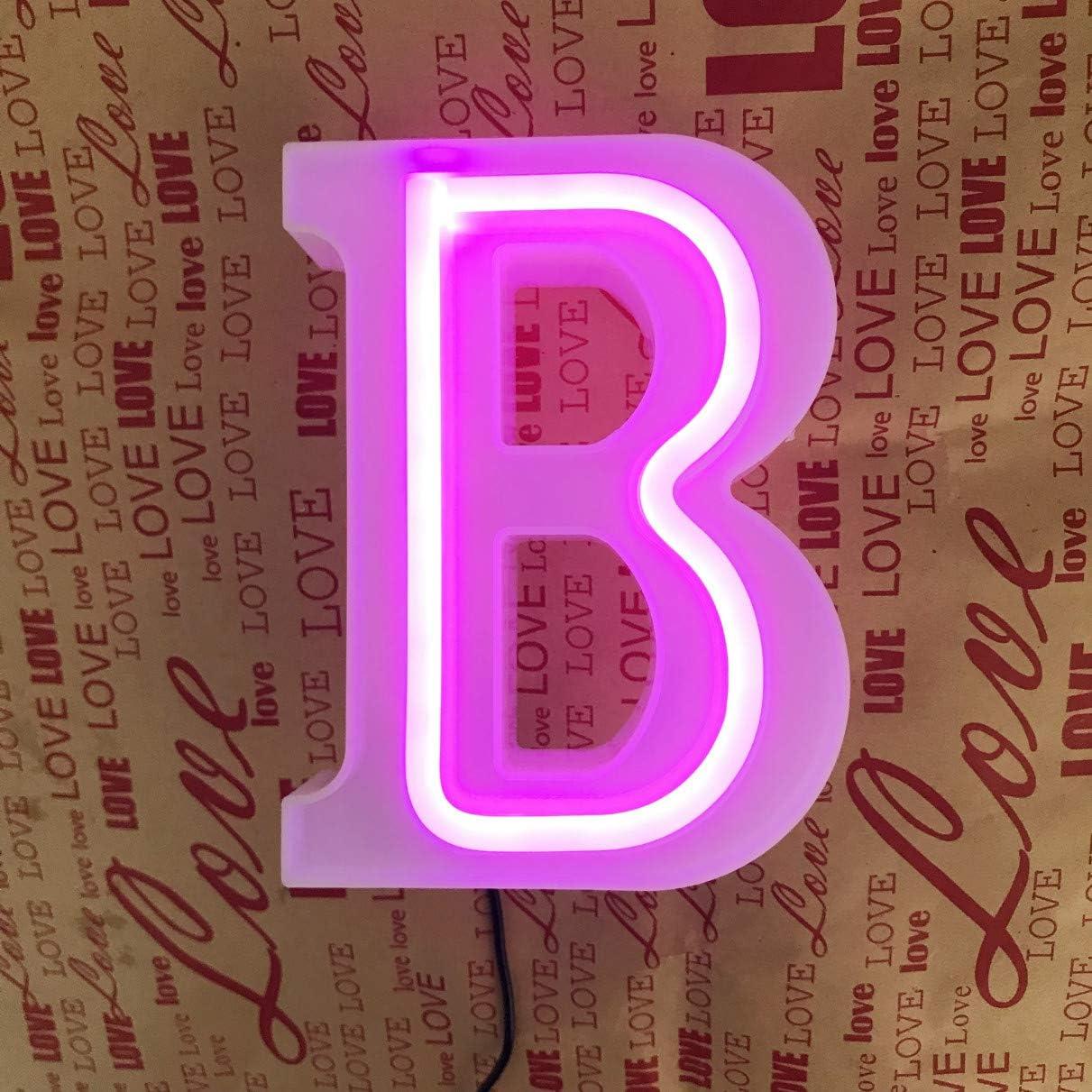Buchstaben Geburtstag I rosa Buchstaben QiaoFei Beleuchtetes Festzelt rosa Wanddekoration Neonschilder Party Bar Tischdekoration f/ür Zuhause Valentinstag Worte Weihnachten