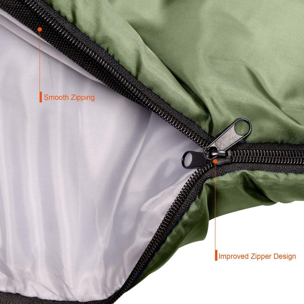 Adulte Sac Couchage pour Camping CampFENSE Sac de Couchage avec Sac de Compression pour Ultra-l/éger 180 /×75 cm, Cote de temp/érature: 30℉-60℉ /étanche Randonn/ée