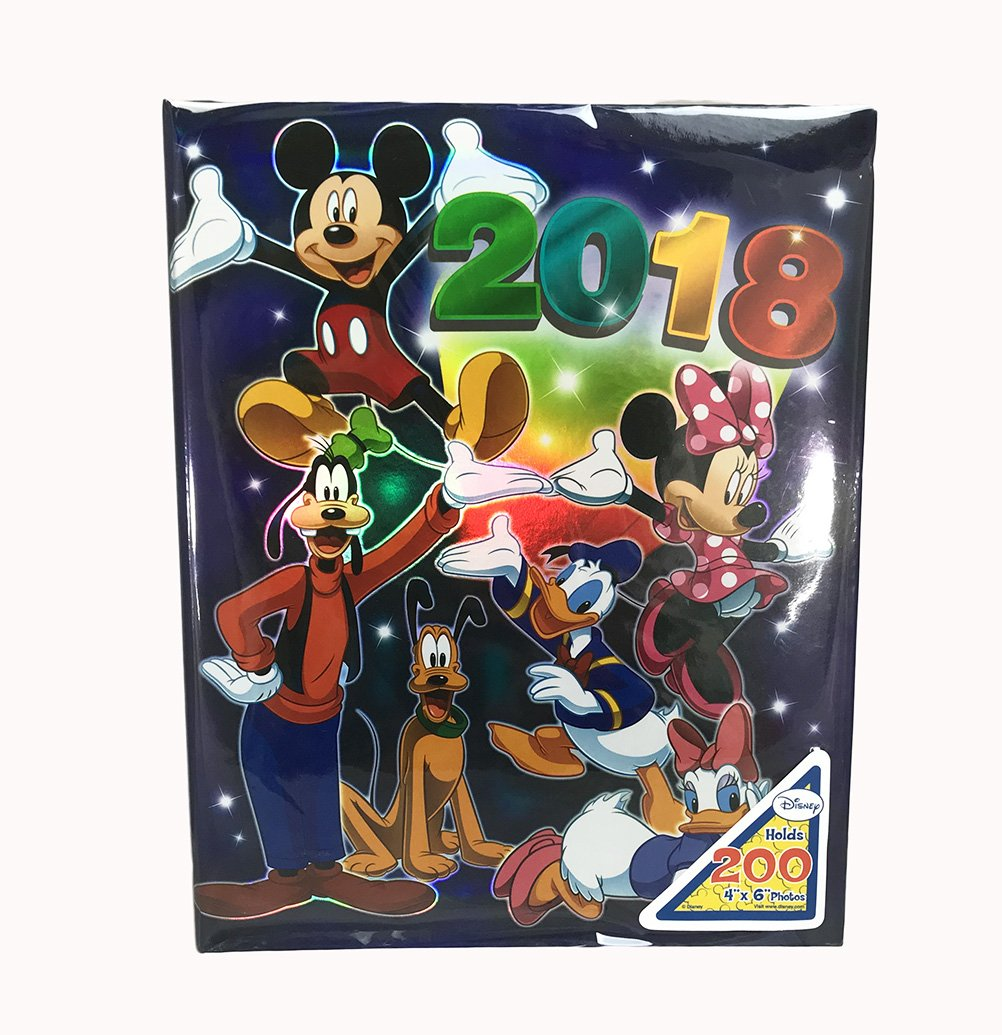 Disney Exclusive 2018 Mickey & Gang Photo Album Holds 200 4 Photo Size Up To 4