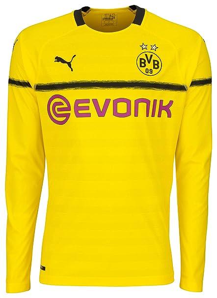 a916ac90da7e6 Amazon.com : PUMA 2018-2019 Borussia Dortmund Home UCL Long Sleeve ...