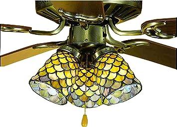4 Inch W Tiffany Fishscale Fan Light Shade Ceiling Fixture Ceiling Fan Light Kits Amazon Com