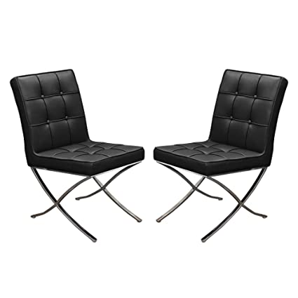 Amazon.com - Set of (2) Cordoba Tufted Dining Chair w ...