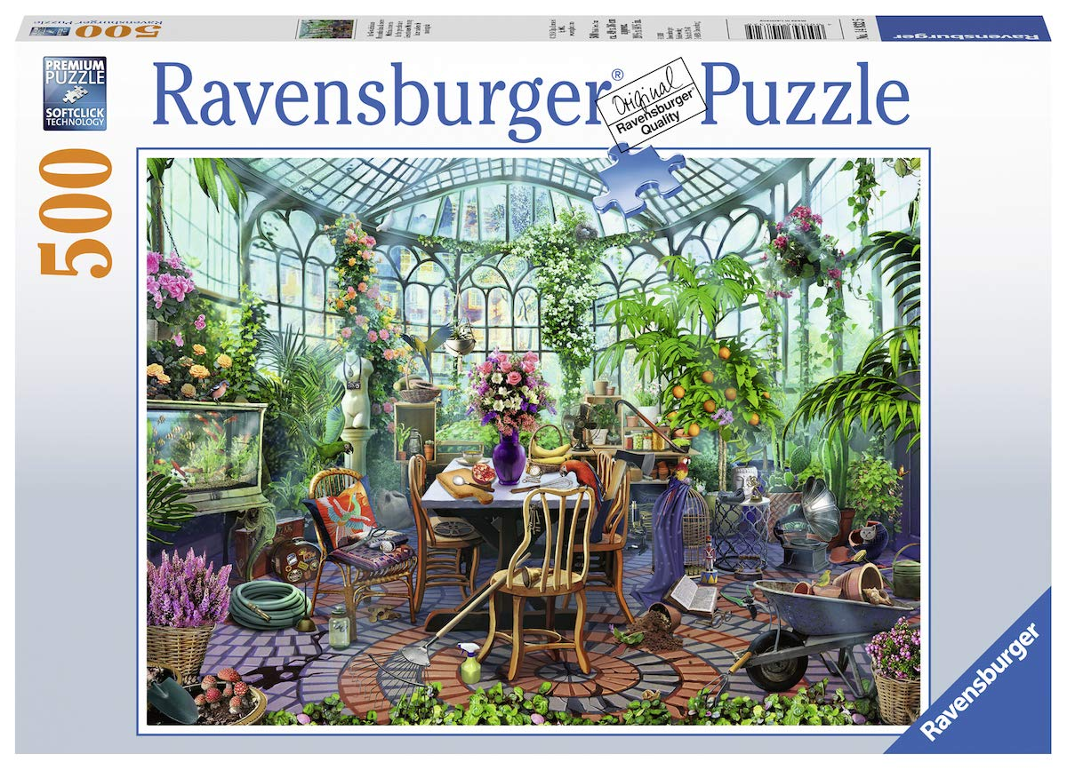Ravensburger Greenhouse Morning 14832 500 Piece Puzzle for Adults, Every Piece is Unique, Softclick Technology Means Pieces Fit Together Perfectly by Ravensburger