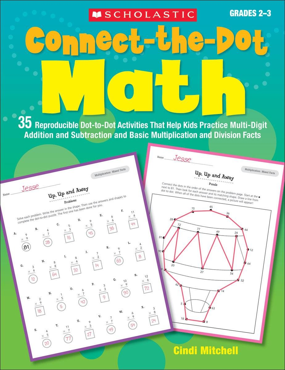 amazon com connect the dot math 35 reproducible dot to dot