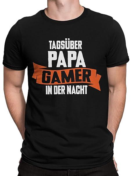vanVerden Camiseta Gents Daytime Papa Gamer in The Night Gift Día del Padre: Amazon.es: Ropa y accesorios