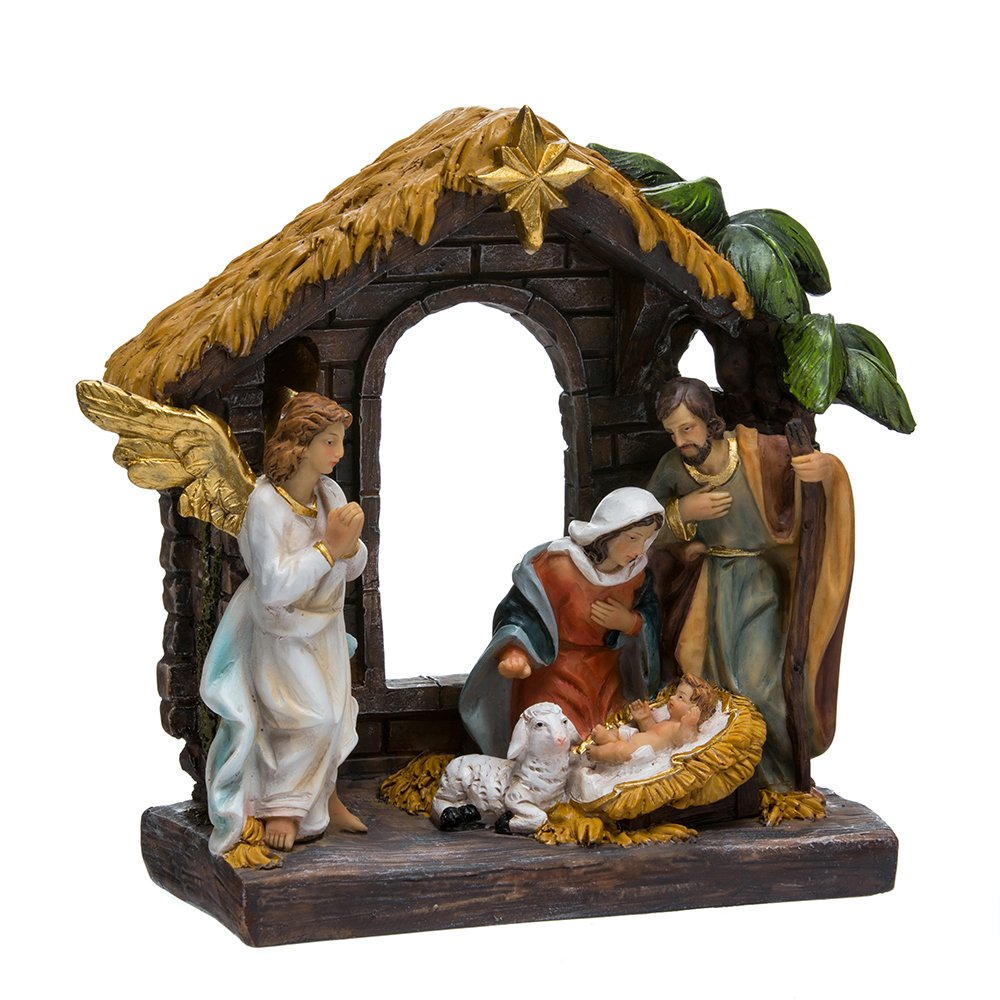Kurt Adler N0295 9'' Painted Holy Family Tablepiece