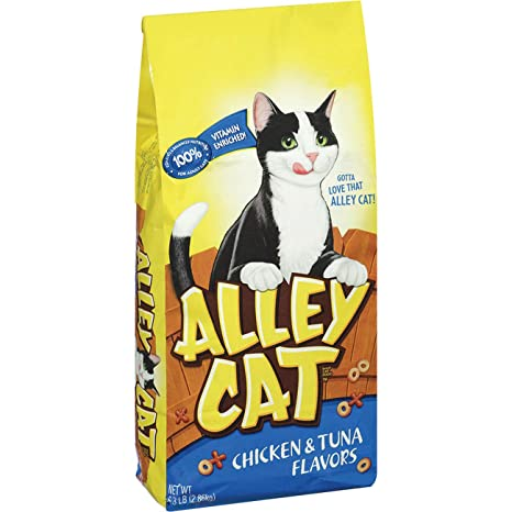 Alley Cat Chicken \u0026 Tuna Flavors Dry Cat Food, 6.3 Lb (Pack Of 5),