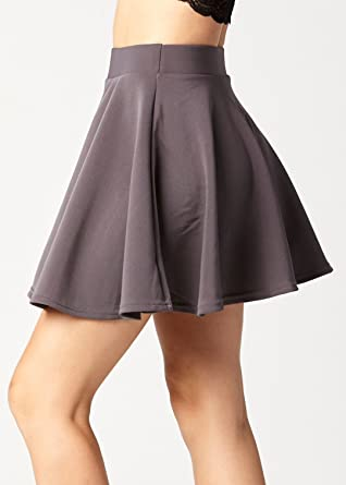 64d32b34a Conceited Premium Stretch High Waisted Flared Mini Skater A Line Skirt for  Women at Amazon Women's Clothing store: