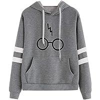 CNBOY Mujeres Camisetas Manga Larga Varsity Gafas de Harry Potter Encapuchado Camisa de Entrenamiento Sudaderas con…