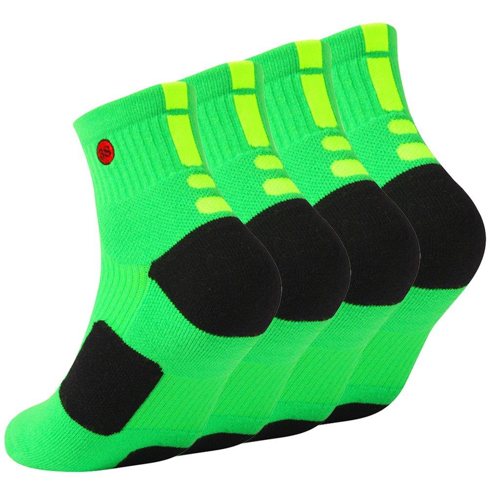3street SOCKSHOSIERY メンズ B07D12X5W6 XL(shoe size 10-14)|9#4 Pairs Green 9#4 Pairs Green XL(shoe size 10-14)