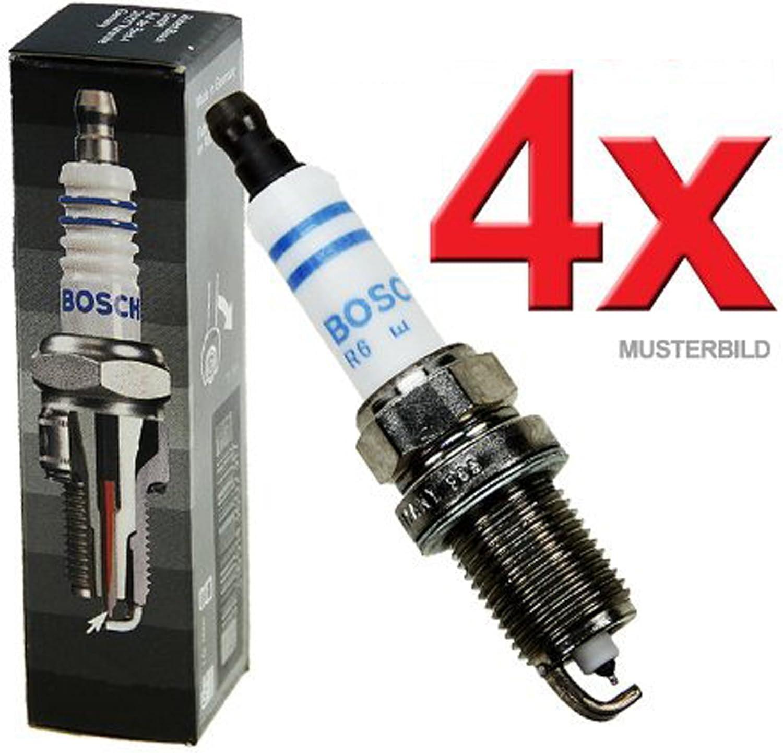 4x Bujía de encendido <br> Original BOSCH Super Plus CITROEN C2 C3 ...