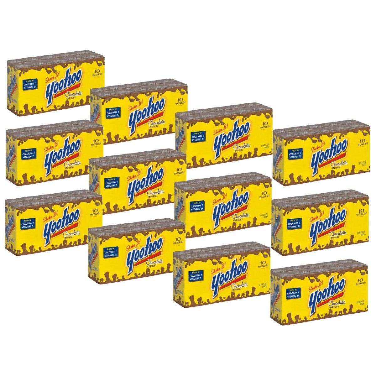 Yoo-hoo Chocolate Drink, 6.5 fl oz boxes, 10 count (Pack of 12)