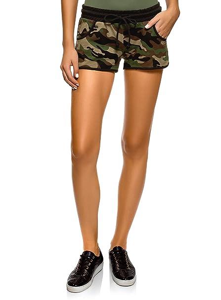 bc68262f07 oodji Ultra Mujer Pantalones Cortos Estampados de Algodón: Amazon.es: Ropa  y accesorios