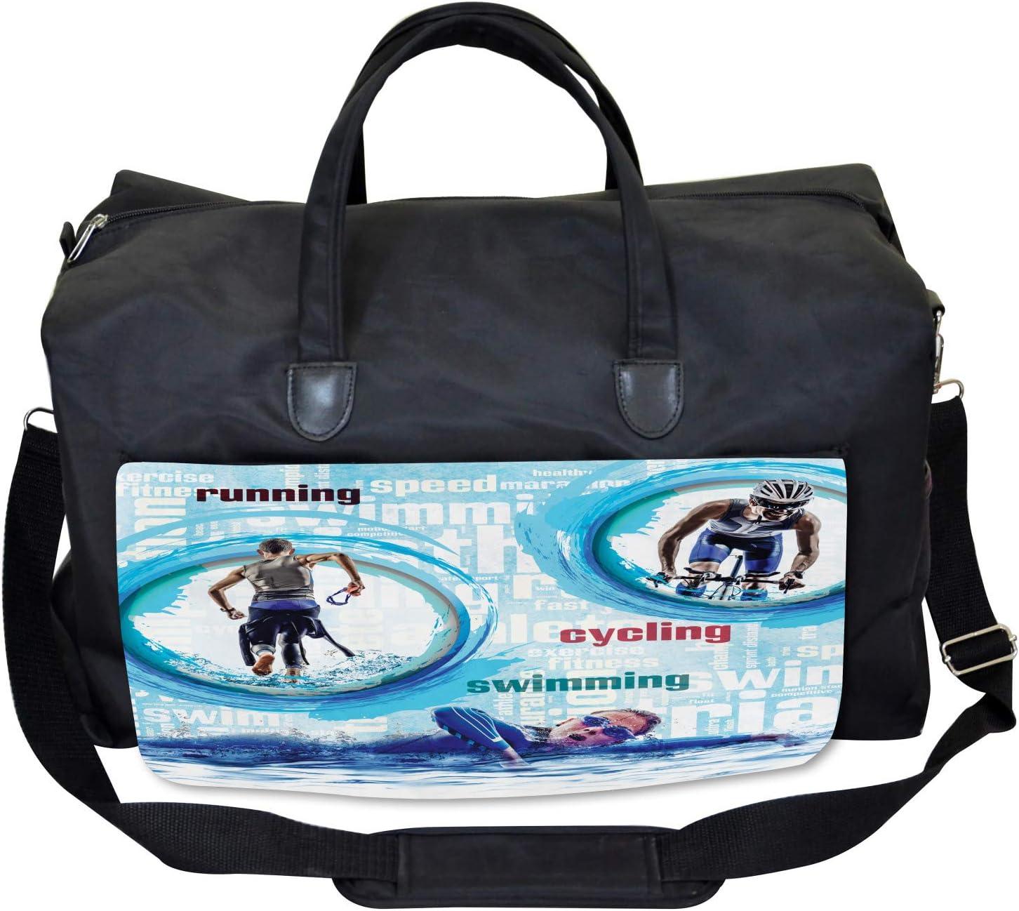 Ambesonne Dog Lover Gym Bag Detailed Pet Animal Large Weekender Carry-on