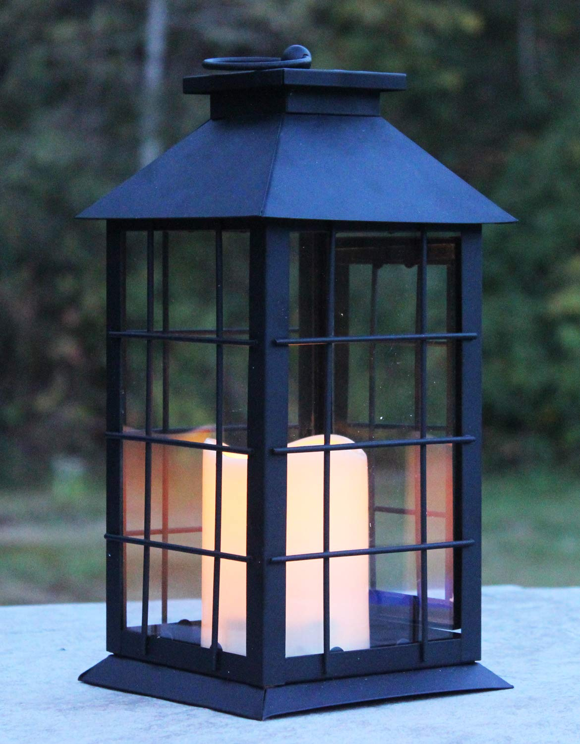 Seraphic Black Metal Lantern with Flickering Flameless LED Candle, Case of 6 by Seraphic (Image #4)