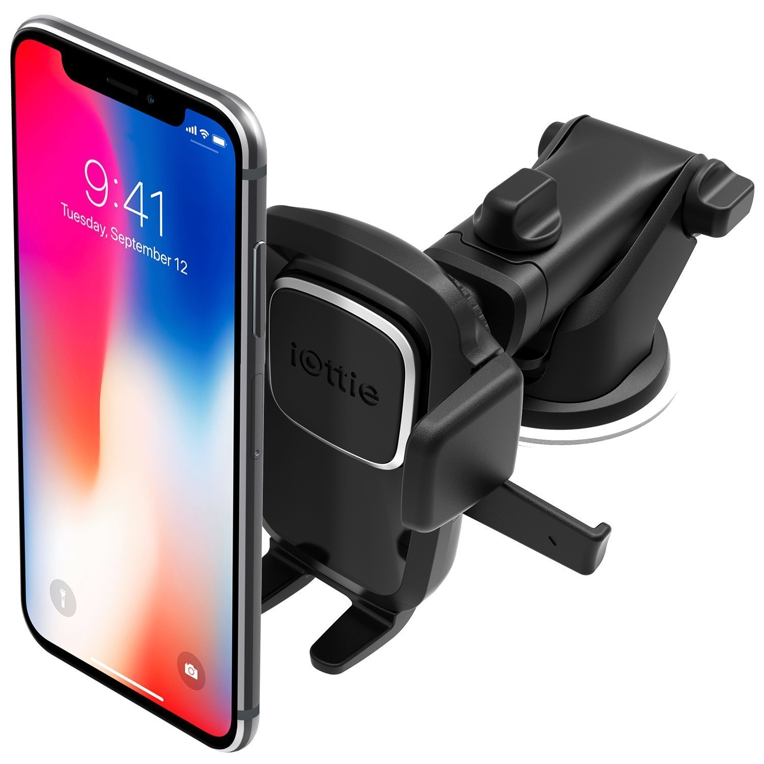 iOttie Easy One Touch 4 Dashboard & Windshield Car Phone Mount Holder for iPhone X 8 Plus 7 6s SE Samsung Galaxy S9 S8 Edge S7 S6 Note 9 & Other Smartphone [10 Dollar Amazon Credit] by iOttie
