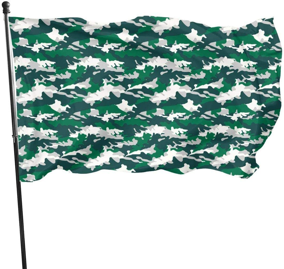 Bandera Decorativa Banderas Green White Camouflage Camo Army Military Tactical Themed Welcome Party Outdoor Outside Decorations Ornament Picks Home Garden Decor 3 X 5 Ft