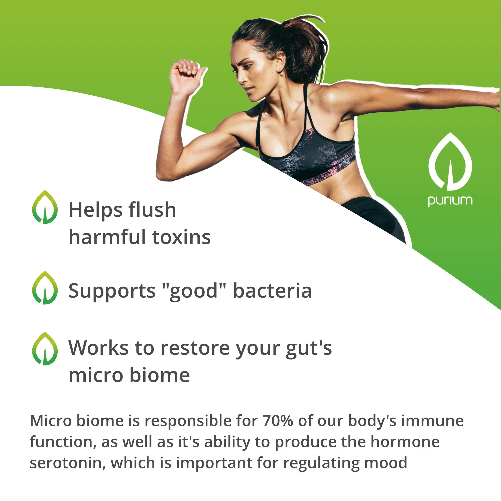 Purium Biome Medic - 60 Vegan Capsules - Gut Health Support Supplement, Removes GMO Toxins, Supports Good Bacteria, Repairs Microbiome - Vegetarian, Gluten Free - 60 Servings by Purium (Image #3)