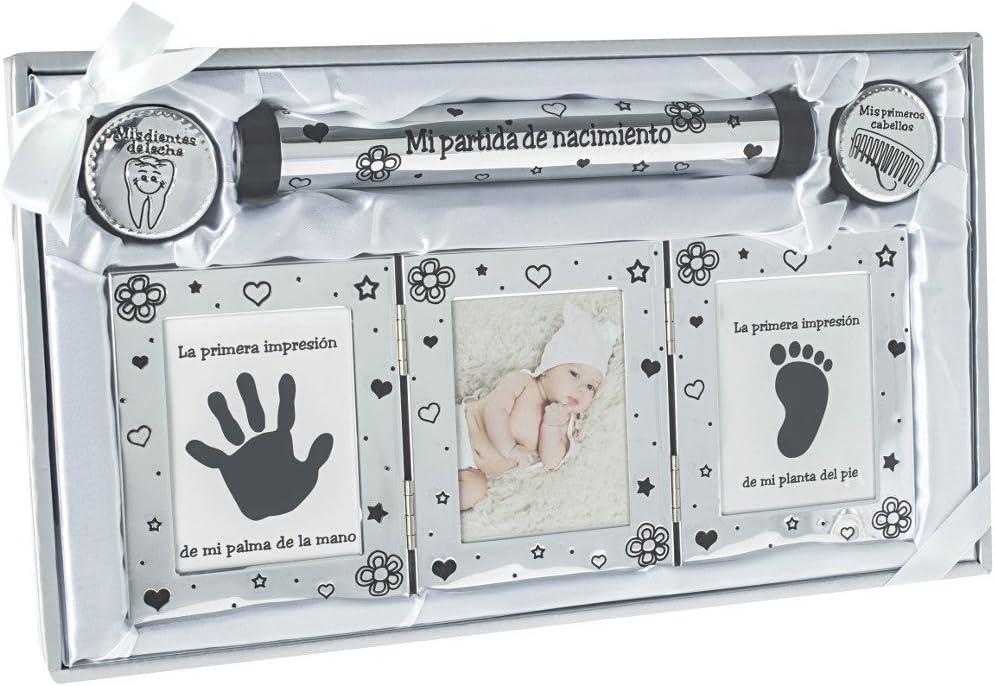 Idea de regalo Ejemplos de regalo para certificado de nacimiento con marco