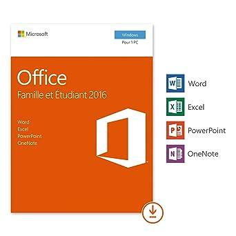 Microsoft Office Famille Et Etudiant 2016 1 Pc Téléchargement