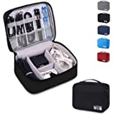 Auma Travel Electronics Organiser Carrying Case - Universal Accessories Bag for Power Cords, Cable, Charger, Phone, USB…