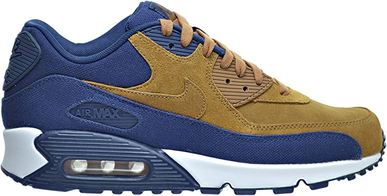 Men's Nike Air Max 90 Premium Ale BrownMidnight Navy 700155 201