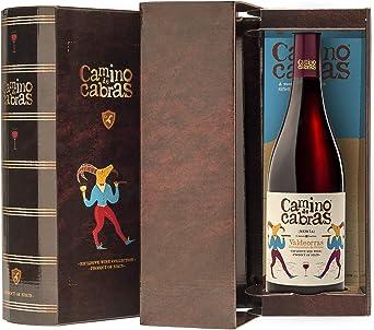 CAMINO DE CABRAS Estuche de vino - Mencía - vino tinto Crianza – D.O. Valdeorras – Producto Gourmet - Vino bueno para regalar - Vino Premium - 1 botella x 75cl: Amazon.es: Alimentación y bebidas
