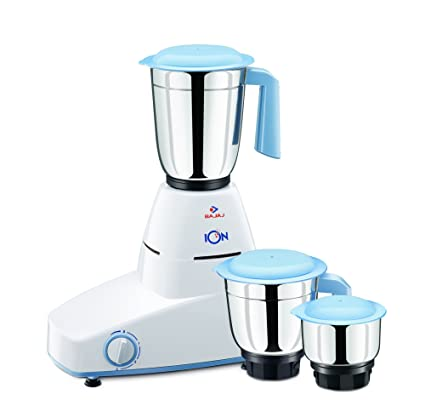 58951cd9e Buy Bajaj Ion 500-Watt Mixer Grinder with 3 Jars (White) Online at Low  Prices in India - Amazon.in