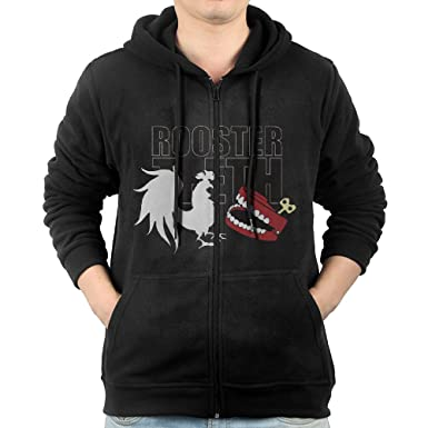 451a14a0370a Mens Rooster Teeth Men s Slim Fit Zip-up Hoodies Fleece Sweatshirts  JacketXX-Large